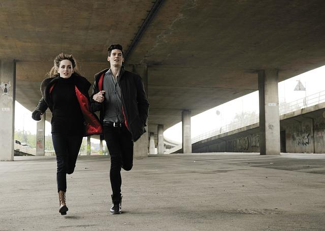 běh pod mostem